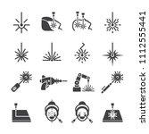 laser icon set | Shutterstock .eps vector #1112555441