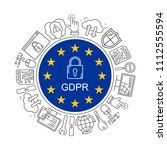 vector gdpr   general data... | Shutterstock .eps vector #1112555594