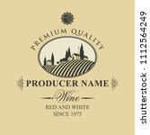 vector label for wine with... | Shutterstock .eps vector #1112564249