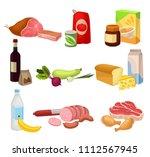 flat vector set of various... | Shutterstock .eps vector #1112567945