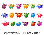 little alien monsters with and... | Shutterstock .eps vector #1112571854