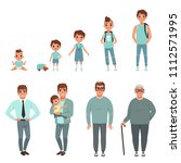 life cycles of man  stages of... | Shutterstock .eps vector #1112571995