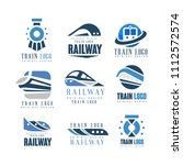 train logo original design set  ... | Shutterstock .eps vector #1112572574