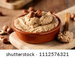 closeup of a brown earthenware... | Shutterstock . vector #1112576321
