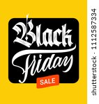 black friday sale blackletter... | Shutterstock .eps vector #1112587334