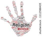 vector conceptual religion  god ... | Shutterstock .eps vector #1112588435