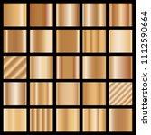 collection of bronze... | Shutterstock .eps vector #1112590664