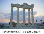 apollon temple  side  antalya... | Shutterstock . vector #1112595074