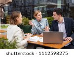 business proposal. three... | Shutterstock . vector #1112598275
