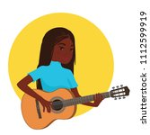 musician playing guitar....   Shutterstock .eps vector #1112599919
