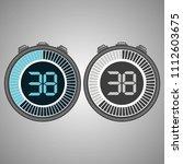 electronic digital stopwatch.... | Shutterstock .eps vector #1112603675