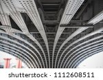 abstract view under the... | Shutterstock . vector #1112608511