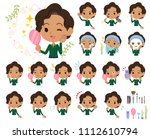 a set of women on beauty. there ... | Shutterstock .eps vector #1112610794