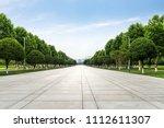 an empty floor in a city park | Shutterstock . vector #1112611307