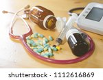 assorted pharmaceutical... | Shutterstock . vector #1112616869