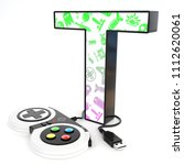 green and purple video game... | Shutterstock . vector #1112620061