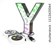 green and purple video game... | Shutterstock . vector #1112620064