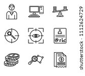 set of 9 simple editable icons... | Shutterstock .eps vector #1112624729