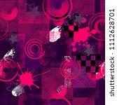 abstract seamless sport pattern ... | Shutterstock . vector #1112628701