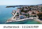 aerial drone bird's eye view... | Shutterstock . vector #1112631989