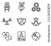 set of 9 simple editable icons... | Shutterstock .eps vector #1112632829