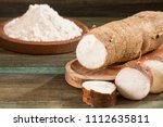 manihot esculenta  cassava ...   Shutterstock . vector #1112635811