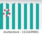 green wall interior in... | Shutterstock .eps vector #1112639801