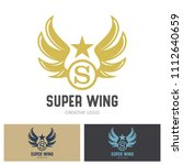 winged emblems  frames  icons ... | Shutterstock .eps vector #1112640659