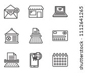 set of 9 simple editable icons... | Shutterstock .eps vector #1112641265