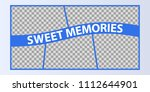 collage of photo frames vector... | Shutterstock .eps vector #1112644901