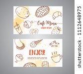 bakery business card template... | Shutterstock .eps vector #1112648975