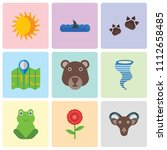 set of 9 simple editable icons... | Shutterstock .eps vector #1112658485