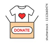 clothes donating color icon.... | Shutterstock .eps vector #1112660474