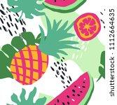 minimal summer trendy vector... | Shutterstock .eps vector #1112664635