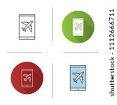 smartphone airplane mode icon.... | Shutterstock .eps vector #1112666711