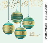 xmas pattern baubles design... | Shutterstock .eps vector #1112669084