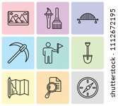 set of 9 simple editable icons... | Shutterstock .eps vector #1112672195