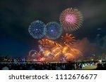 kobe fireworks festival in... | Shutterstock . vector #1112676677