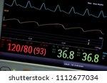 vital sign monitor on screen .  ... | Shutterstock . vector #1112677034