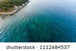 bird eye view of coastline. | Shutterstock . vector #1112684537
