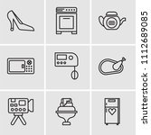 set of 9 simple editable icons... | Shutterstock .eps vector #1112689085