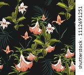 tropical plants  paradise... | Shutterstock .eps vector #1112691251