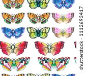 butterfly watercolor... | Shutterstock . vector #1112693417