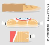 different types of bread packed ... | Shutterstock .eps vector #1112694731