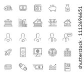 set of popular business or... | Shutterstock .eps vector #1112696651