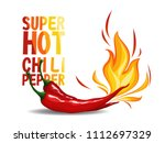 super hot red chilli pepper in... | Shutterstock .eps vector #1112697329