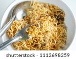 instant noodles spicy ready to... | Shutterstock . vector #1112698259