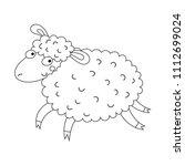 lovely sheep illustration for... | Shutterstock .eps vector #1112699024