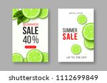 summer sale banners with sliced ... | Shutterstock .eps vector #1112699849