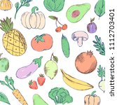 healthy food banner collection. ... | Shutterstock .eps vector #1112703401